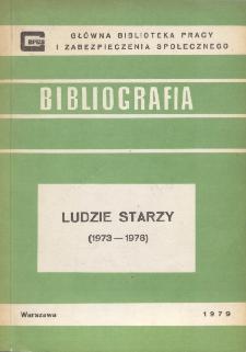 Bibliografia nt. ludzi starych : piśmiennictwo polskie 1973-1978