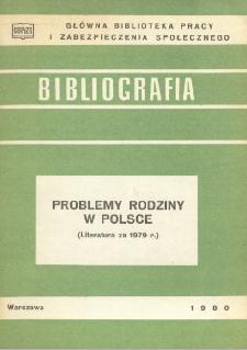 Problemy rodziny w Polsce : (literatura za 1979 r.)