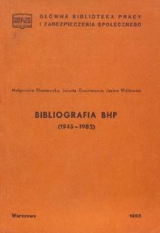 Bibliografia bhp (1945-1982)