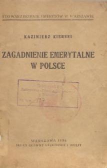 Zagadnienie emerytalne w Polsce