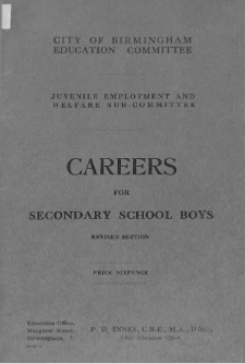 Careers for secondary school boys