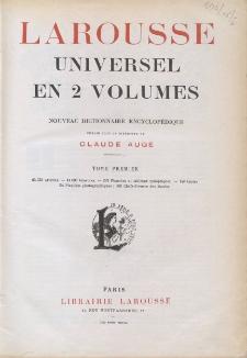 Larousse universel en 2 volumes : nouveau dictionnaire encyclopedique. T. 1