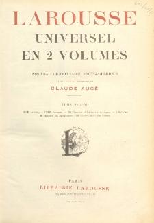 Larousse universel en 2 volumes : nouveau dictionnaire encyclopédique. T. 2