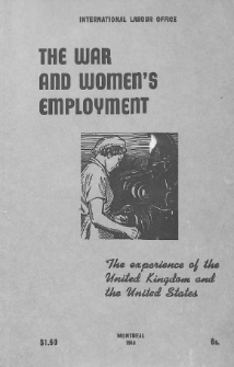 The war and women's employment : the experience of the United Kingdom and the United States