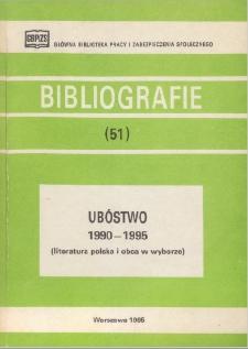 Ubóstwo : 1990-1995 : (literatura polska i obca w wyborze)