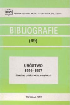 Ubóstwo : 1996-1997 : (literatura polska i obca w wyborze)