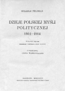 Dzieje polskiej myśli politycznej 1864-1914