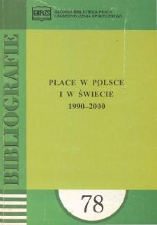 Płace w Polsce i w świecie : 1990-2000 : (literatura polska i obca w wyborze)