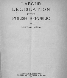 Labour legislation in the Polish Republic