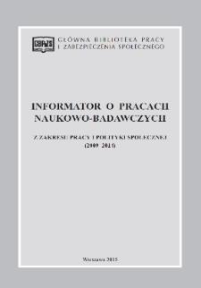 Informator o pracach naukowo-badawczych z zakresu pracy i polityki społecznej (2009-2014)