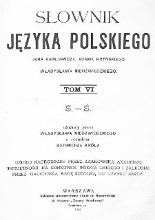 Słownik języka polskiego. T. 6. S-Ś