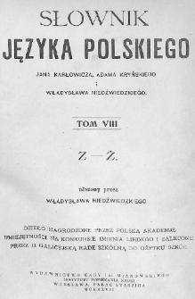Słownik języka polskiego. T. 8. Z-Ż
