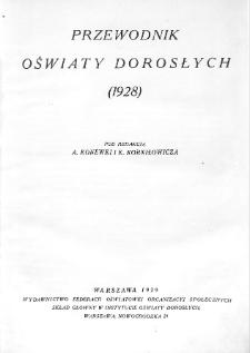 Przewodnik oświaty dorosłych (1928)