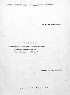 Informacja o rozprawach doktorskich i habilitacyjnych z zakresu zagadnień pracy : (zakończonych w 1983 r.)