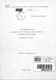 Informacja o rozprawach doktorskich i habilitacyjnych z zakresu zagadnień pracy : (zakończonych w 1987 r.)