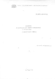 Informacja o rozprawach doktorskich i habilitacyjnych z zakresu pracy : (zakończonych w 1989 r.)