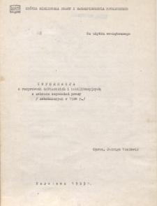 Informacja o rozprawach doktorskich i habilitacyjnych z zakresu pracy : (zakończonych w 1984 r.)