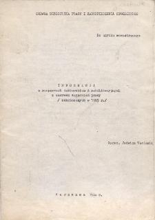 Informacja o rozprawach doktorskich i habilitacyjnych z zakresu pracy : (zakończonych w 1985 r.)