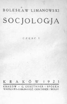Socjologia. Cz. 1-2