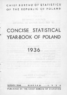 Concise statistical year-book of Poland : 1936
