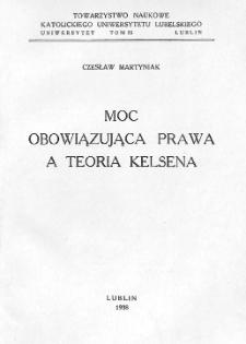Moc obowiązująca prawa a teoria Kelsena