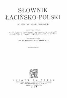 Słownik łacińsko-polski : do użytku szkół średnich