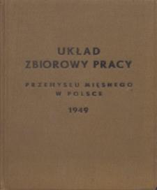 Układ zbiorowy pracy przemysłu mięsnego w Polsce [zawarty 1 września 1949 r.]