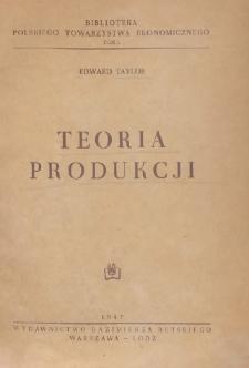 Teoria produkcji