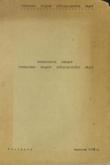 Sprawozdanie Zarządu Centralnego Związku Spółdzielczości Pracy