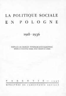 La politique sociale en Pologne : 1918-1936