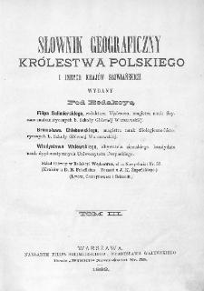 Słownik geograficzny Królestwa Polskiego i innych krajów słowiańskich. T. 3. [H - Kępy]