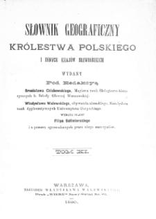 Słownik geograficzny Królestwa Polskiego i innych krajów słowiańskich. T. 11. [S - Sz]