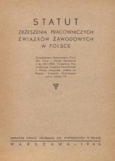 Statut Zrzeszenia Pracowniczych Związków Zawodowych w Polsce
