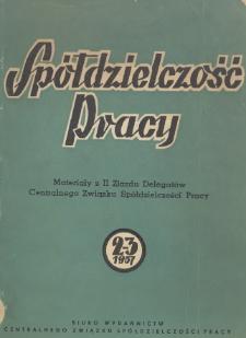 Materiały II Zjazdu Delegatów Centralnego Związku Spółdzielczości Pracy