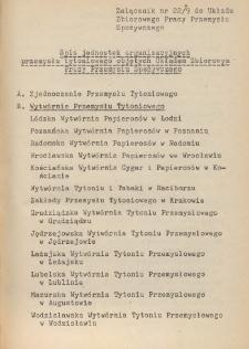 Układ zbiorowy pracy przemysłu spożywczego [z dnia 10 marca 1962 r.]. [9], Załączniki dla przemysłu tytoniowego