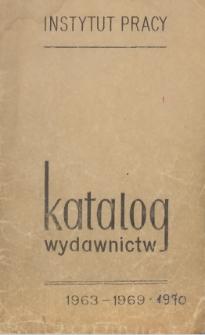 Katalog wydawnictw : 1963-1969