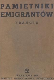 Pamiętniki emigrantów : Francja