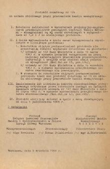 Układ zbiorowy pracy pracowników handlu wewnętrznego : protokół dodatkowy nr 124 [obowiązujący od 9 września 1968 r.]
