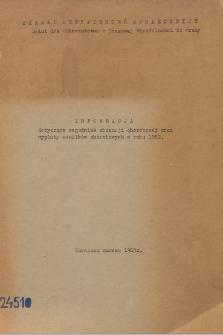 Informacja dotycząca zagadnień absencji chorobowej oraz wypłaty zasiłków chorobowych w roku 1962