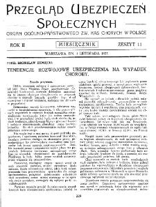 Przegląd Ubezpieczeń Społecznych : 1927, nr 11