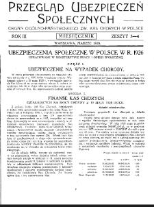 Przegląd Ubezpieczeń Społecznych : 1928, nr 3-4