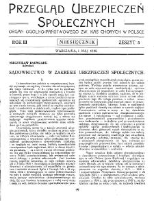 Przegląd Ubezpieczeń Społecznych : 1928, nr 5
