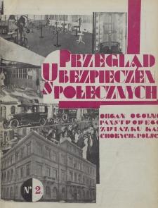 Przegląd Ubezpieczeń Społecznych : 1929, nr 2