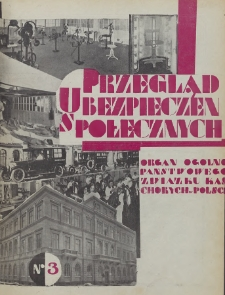 Przegląd Ubezpieczeń Społecznych : 1929, nr 3