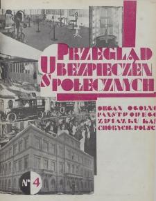 Przegląd Ubezpieczeń Społecznych : 1929, nr 4