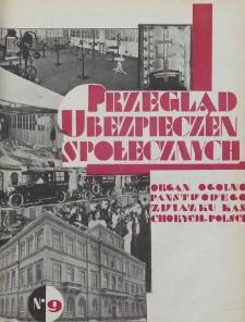 Przegląd Ubezpieczeń Społecznych : 1929, nr 9