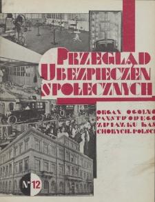 Przegląd Ubezpieczeń Społecznych : 1929, nr 12