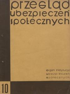 Przegląd Ubezpieczeń Społecznych : 1930, nr 10