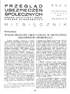 Przegląd Ubezpieczeń Społecznych : 1931, nr 3