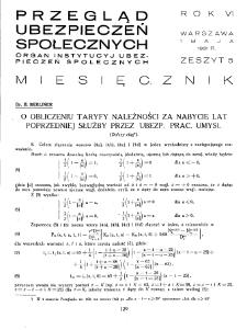 Przegląd Ubezpieczeń Społecznych : 1931, nr 5